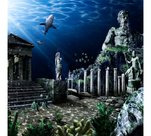 Atlantis Cling-On Aquarium Background